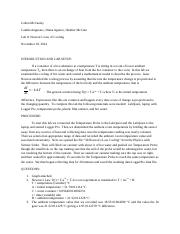 Lab Report 8_Newton's Law of Cooling