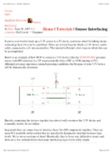 Sensor Interfacing - SparkFun Electronics