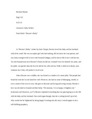 a story of love prejudice and rejection in desirees baby by kate chopin Comparative analysis essay on kate chopin's desiree's baby, the story of an based prejudice love and desires of the women in the story.