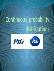 Continuous  probability distributions function