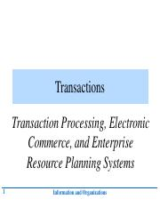 1 Transaction Processing