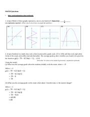 Algebra Questions Solution
