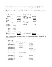 Audit of Cash and Cash Equivalents 7