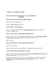 INDV 102 Schedule of Readings F2009