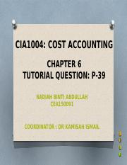 cost accounting-C6