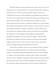 Marriage and Love Essay