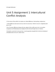 Uni5 Assign 1 Intercutural Conflict Analysis.docx
