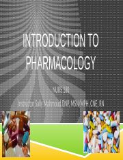 Wk 1 Intro to Pharm-pp