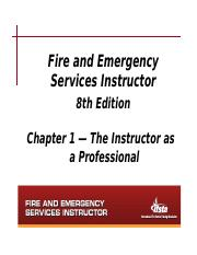 Chapter 1 Notes - The Instructor as a Professional