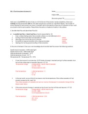 ESS 5 Earth Atmosphere Homework 2 with Answers