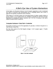 01 A Bird's Eye View of System Abstractions