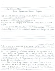 Lecture Notes on Quadratic Surfaces