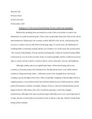 income inequality and poverty essay | econ-2301-025.docx
