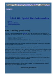 node16 Lab 9 - Estimating Spectral Density   STAT 510 - Applied Time Series Analysis