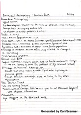 biomedical anthropology & ancient DNA notes