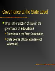 Governance at the State Level.ppt