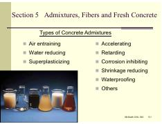 Set 5 - Ads Fibs and Fresh Conc pdf - Section 5 Admixtures