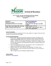 Tax Acct 351-Syllabus