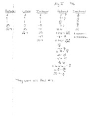 Real Numbers Notes