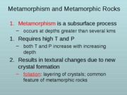 METAMORPHIC ROCKS abbrev