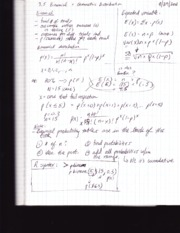 Stat 213 notes -Bionomial and geometric distribution