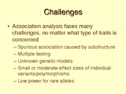 Lecture 9 on INTRO STAT GENETICS