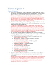 "Homework Assignment â€"" 7 Answers"