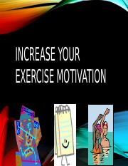 Exercise Motivation - Aaron Green