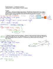 13 - Particle kinetics - Combination problems