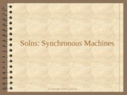 Solns Synchronous Machines
