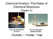 Chapter 15, chemical reaction rates