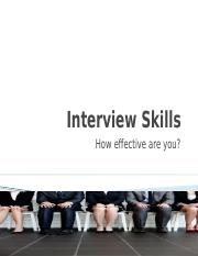 Interview Skills - Marketting and sales professionals