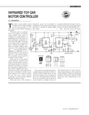 Infrared Toy Car Motor Controller