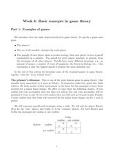 Basic concepts in game theory