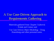 11.UseCaseDrivenApproachtoRequirements