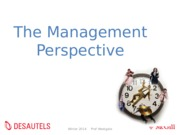 3 Management Perspective