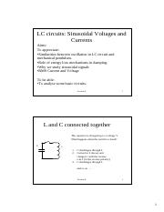 09. LC and sinusoidal voltages