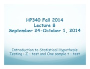 HP340 Lecture 8 - Z and T Tests(2)