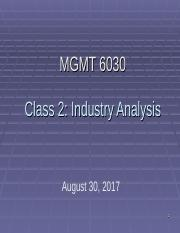 Class 2 PMBA 6030 Industry analysis fall 2017 out.ppt