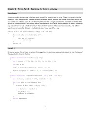 Lecture Notes on Searching for items in an Array