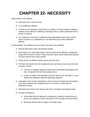 CHAPTER 22 NECESSITY Notes