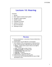 lecture 10 hearing