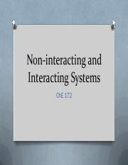 09 Non-interacting and Interacting Systems