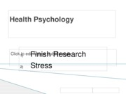 stress- Definition, Measurement, and correlates