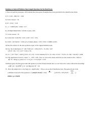 Solutions to Selected Problems from Sample Questions for the Final Exam.docx
