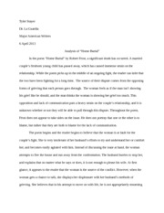 Home Burial position paper