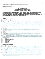 001 Guided Reading Chapter 20 Northern Eurasia 1500-1800 (with vocab)