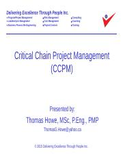 10_Critical Chain Project Management (CCPM) Revised 2015-09-17