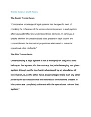 Trento thesis 4 and 5 Notes