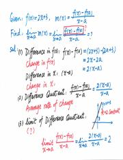 MATB110 Scan Notes Lecture 2 Derivative